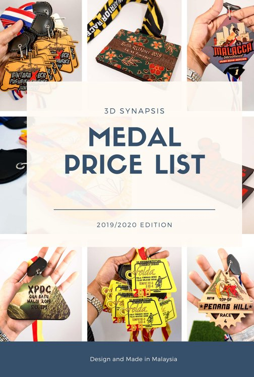Medal Price List Catalogue